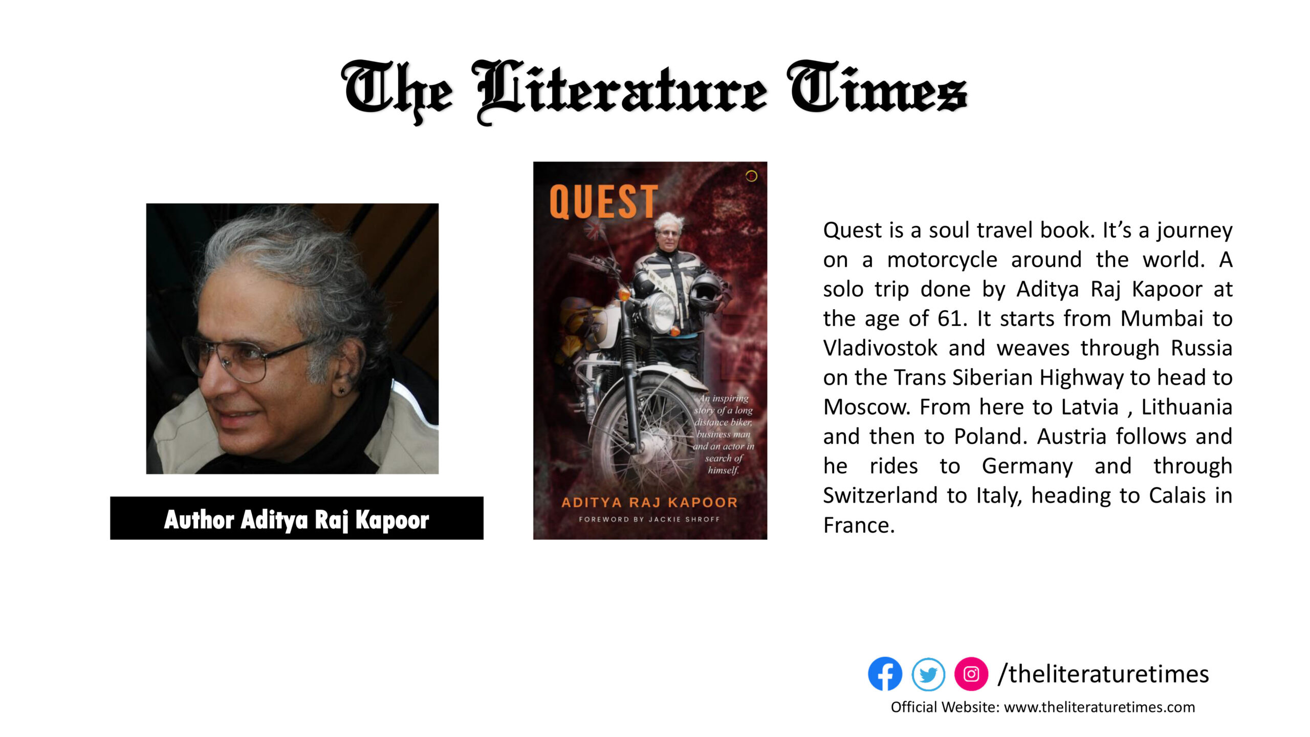 """An Interview With the Author of the Book """"Quest"""" -Aditya Raj Kapoor"""